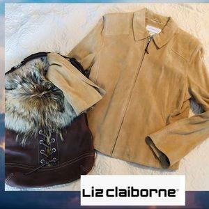 Liz Claiborne Real Suede Jacket! Excellent!!